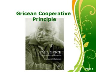 Gricean Cooperative Principle