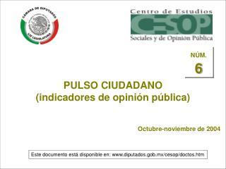 PULSO CIUDADANO (indicadores de opinión pública)
