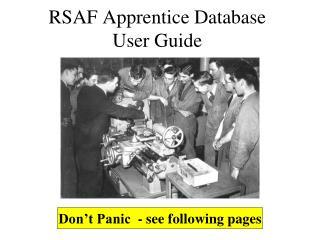 RSAF Apprentice Database User Guide