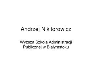 Andrzej  Nikitorowicz