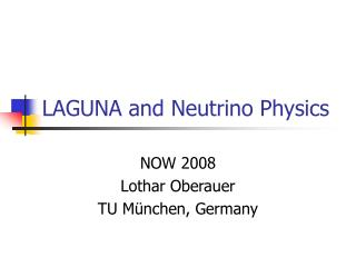 LAGUNA and Neutrino Physics