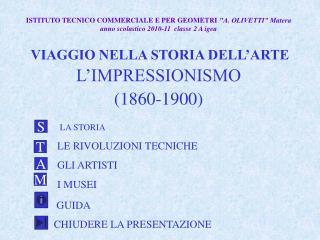 VIAGGIO NELLA STORIA DELL'ARTE