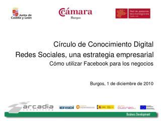 C�rculo de Conocimiento Digital Redes Sociales, una estrategia empresarial