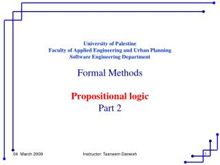 University of Palestine Faculty of Applied Engineering and Urban Planning