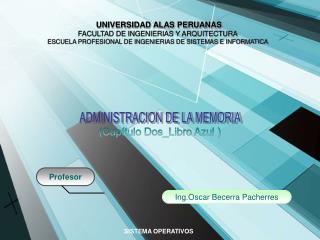UNIVERSIDAD ALAS PERUANAS FACULTAD DE INGENIERIAS Y ARQUITECTURA
