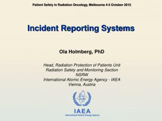 Incident Reporting Systems