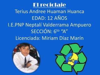 Trabajo Práctico de reciclaje