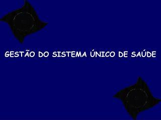 GEST O DO SISTEMA  NICO DE SA DE