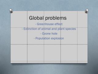 Global problems