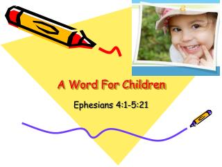 A Word For Children