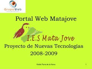 Portal Web Matajove