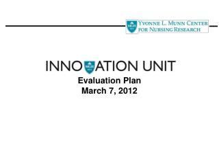 Evaluation Plan March 7, 2012