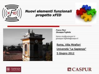 Nuovi elementi funzionali  progetto xFID