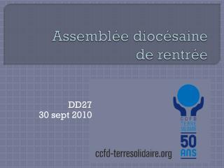 Assemblée diocésaine  de rentrée