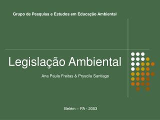 Grupo de Pesquisa e Estudos em Educação Ambiental