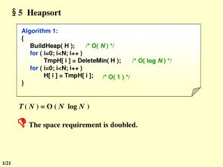 §5  Heapsort