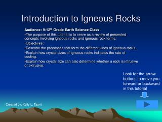 Introduction to Igneous Rocks