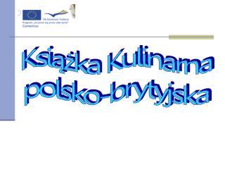 Książka Kulinarna polsko-brytyjska