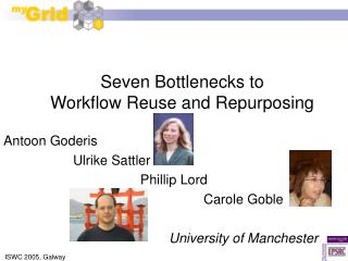 Seven Bottlenecks to Workflow Reuse and Repurposing