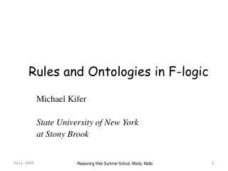 Rules and Ontologies in F-logic