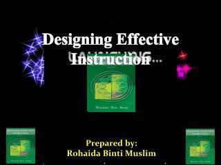 Prepared by: Rohaida Binti  Muslim