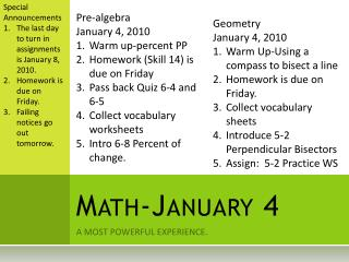 Math-January 4