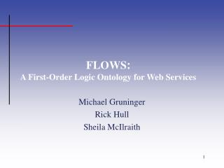 FLOWS : A First-Order Logic Ontology for Web Services