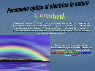 Fenomene optice si electrice in natura
