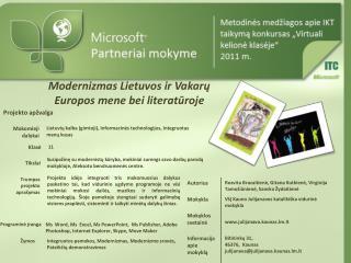 Modernizmas Lietuvos ir Vakarų Europos mene bei literatūroje