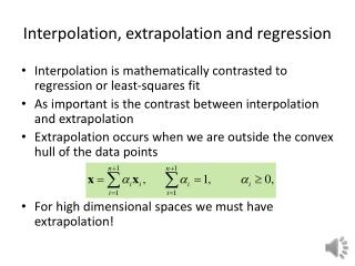 Interpolation, extrapolation and regression
