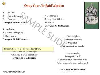 Obey Your Air Raid Warden