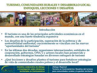 TURISMO, COMUNIDADES RURALES Y DESARROLLO LOCAL: ENFOQUES, LECCIONES Y DESAFÍOS
