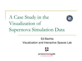 A Case Study in the Visualization of  Supernova Simulation Data