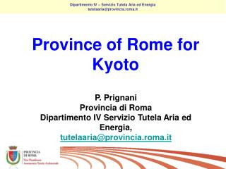 Province of Rome for Kyot o