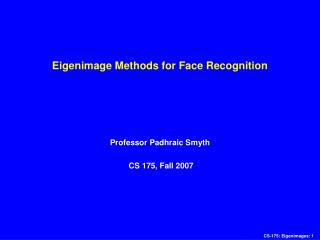 Eigenimage Methods for Face Recognition