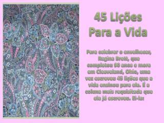 45 Lições Para a Vida
