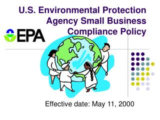 U.S. Environmental Protection Agency Small Business Compliance Policy