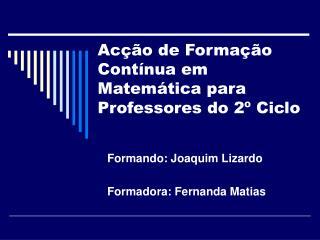 Acção de Formação Contínua em Matemática para Professores do 2º Ciclo
