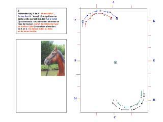 8  Afwenden bij A en C.  1e secties C ,  2e secties A.   Vanaf 10 m splitsen en