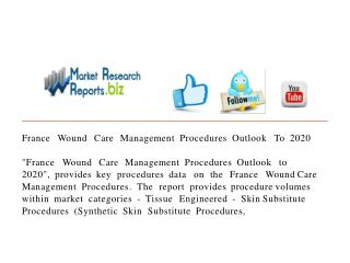 France Wound Care Management Procedures Outlook To 2020