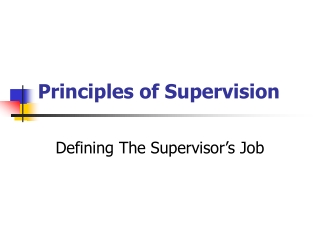 SUPERVISING A DIVERSE WORKFORCE