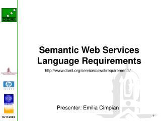 Semantic Web Services Language Requirements