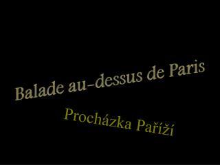 Procházka Paříží