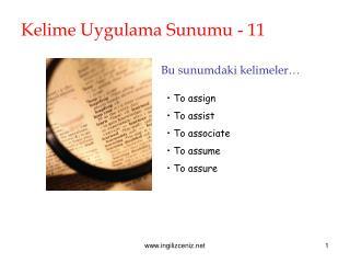 Kelime Uygulama Sunumu - 11