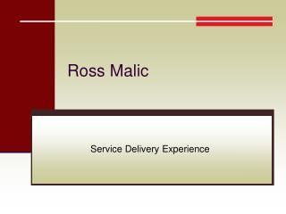 Ross Malic