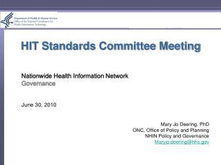 HIT Standards Committee Meeting