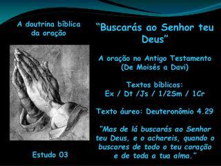 A doutrina b�blica  da ora��o