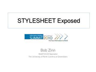STYLESHEET Exposed