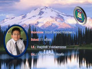 Nombre:  Zayd  Isaac Valdez L. Edad: 11 años I.E.: Neptali  Valderrama  Lic.:  Miriam Díaz Marín