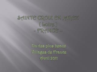 SAINTE CROIX EN JAREZ ( Loire ) - FRANCE –